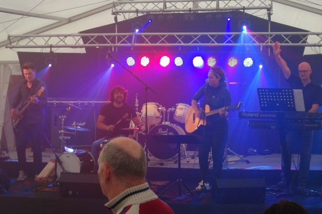 Band in tent Warnsveld